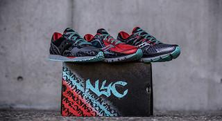 玩转纽约街头涂鸦风—Saucony纽约马拉松特别款运动鞋