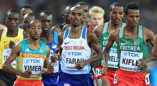 伦敦世锦赛   男子万米决赛:莫·法拉赢得最吃力的一场恶战