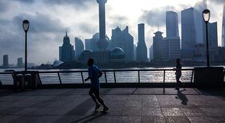 跑在上海之浦江悠旅