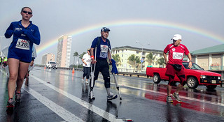 这里的终点叫做彩虹—夏威夷火奴鲁鲁马拉松全记录(二)