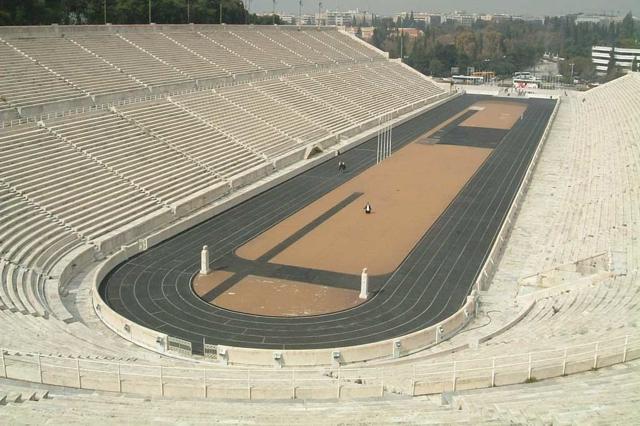 雅典马拉松终点大理石体育场