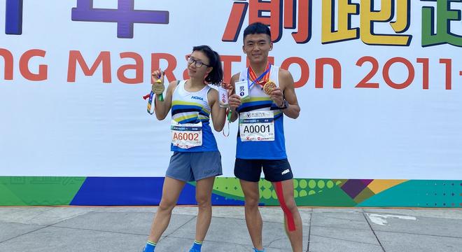 2020重庆马拉松圆满收官,HOKA ONE ONE精英队选手李波、向付召勇获男女组第一