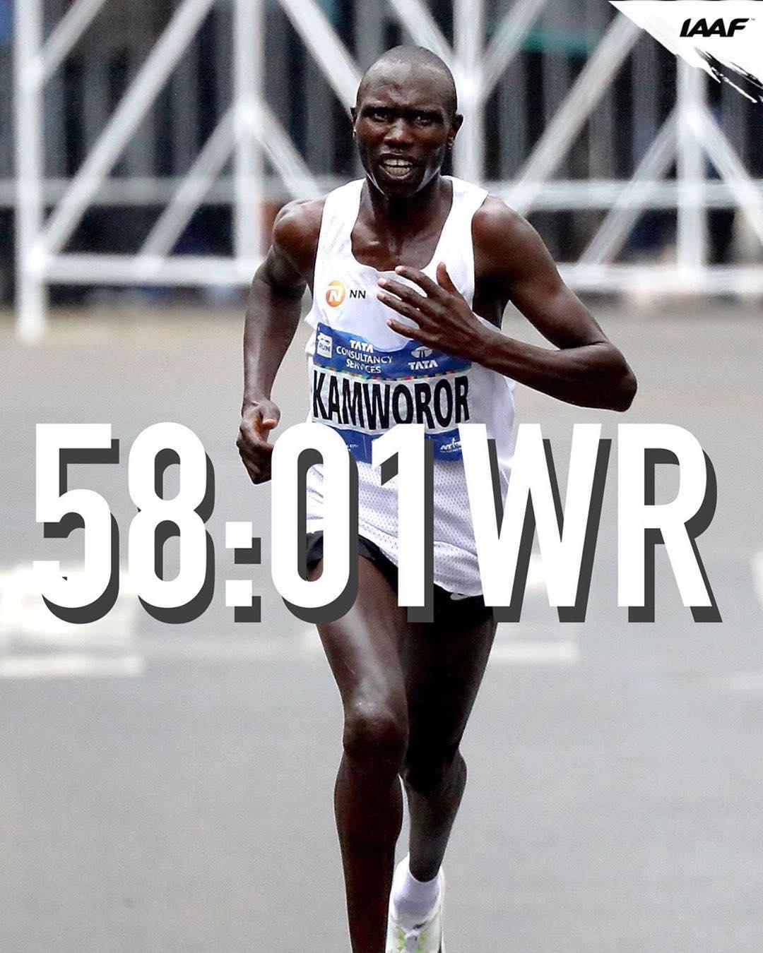 58分01秒 半程马拉松新纪录   跑圈十件事