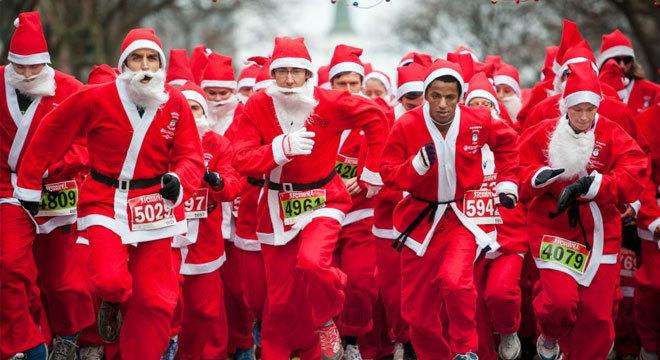 做一个善良的圣诞老人—世界各地的圣诞老人跑