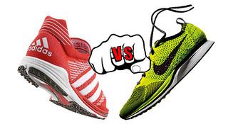 左脚耐克,右脚阿迪—运动鞋编织面料的艺术正面撞击
