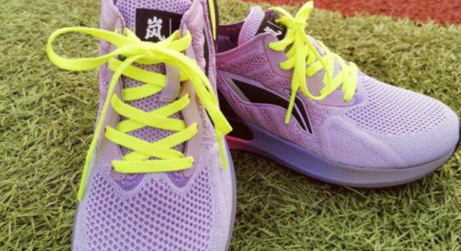 夏日嵐不住的跑步色彩--李寧嵐跑鞋