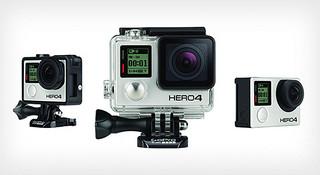 运动摄像机 GoPro HERO 4 华丽亮相,升级4k视频和触控屏幕